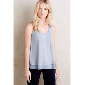 Eloise | Chiffon Trim Scoop Neck Tank Top |